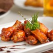 Stock Photo: Spicy chiken wings