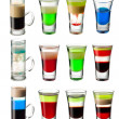 Shot cocktail  set — Stock Photo