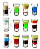 Shot cocktail set — Stock Photo