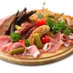 Big snak plate — Stock Photo