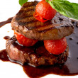 Stock Photo: Beef steak in balsamic sauce