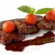 Beef steak in balsamic sauce — Stock Photo