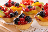 Baking with berries and fruits — Stock Photo