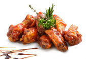 Chicken wings with barbeque sauce — Stock Photo