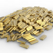 Pile of gold bars — Stock Photo #12860072