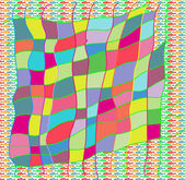 Colorful greeting card — Stock Photo