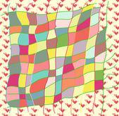Carte de voeux d'amour coloré — Photo