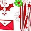 cartão de saudação de Natal vermelho — Foto Stock