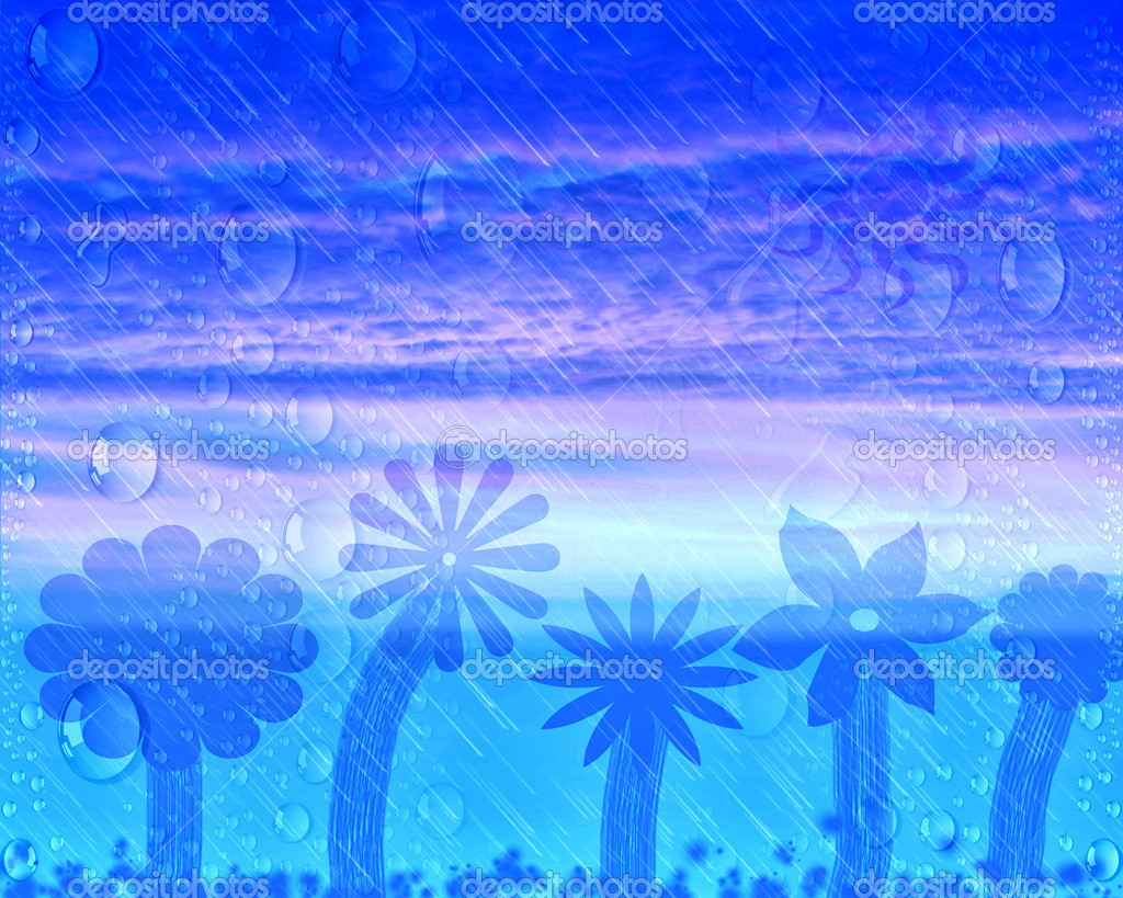 Abstract rainy sunset  Stock Photo #17363129