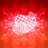Romantic hearts background — Stock Photo