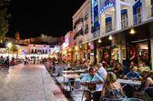 Bars on a walking street in Albufeira, Algarve, Portugal — Stock Photo