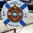 Buoy identifying the Portuguese ship Creoula — Stock Photo