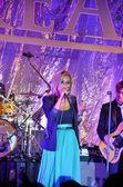 Concert of the portuguese singer Aurea — Stock Photo