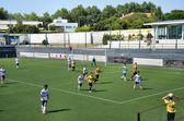 Soccer spel — Stockfoto