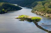 Island in Tagus River at Portas de Rodao — Stock Photo