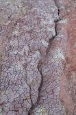 Pęknięcia na suche brud czerwony — Zdjęcie stockowe