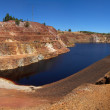 Poisoned lake of open pit mine — Stock Photo