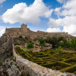 Marvao garden and castle — Stock Photo