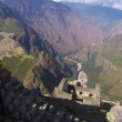 Wayna Picchu ruins and Machu Picchu view — Stock Photo