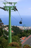 Cable car over Funchal, Madeira — Stock Photo