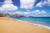 Porto Santo golden beach — Stock Photo