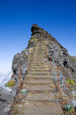 Pico do Areeiro trekking to sky, Madeira — Stock Photo
