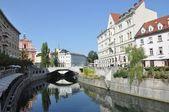 Ljubljana city center — Stock Photo