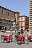 Piazza Maggiore and Neptune Fountain, Bologna, Italy — Stock Photo