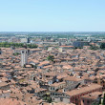 Panoramic view of Brescia, Italy — Stock Photo