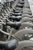Public bicycle rental in Paris — Stock Photo
