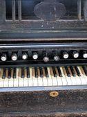 Antieke orgel toetsenbord — Stockfoto