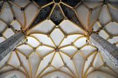 Arched ceiling of a medieval church, Slovenia — Stock Photo
