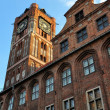Stock Photo: Gothic tower of town hall in Torun, Poland
