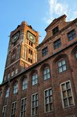 Torre gótica da Câmara Municipal em torun, Polónia — Fotografia Stock