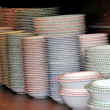 Stock Photo: Ceramic piled plates