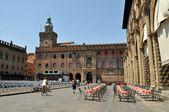 Piazza Maggiore in Bologna city, Italy — Stock Photo
