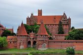 Malbork castle on cloudy day, Poland — Stock Photo