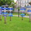 Grudziadz street names, Poland — Stock Photo