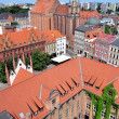 Постер, плакат: Old town skyline of Torun aerial view from town hall tower The medieval old town is a UNESCO World Heritage Site