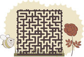 Maze's bee — Stock Vector