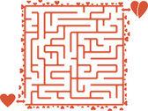 Heart's Maze — Stock Vector