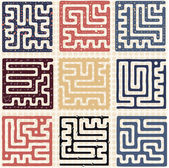 Set of Maze — Stock Vector