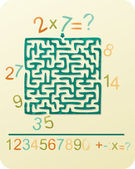 Number's Maze — Stock Vector