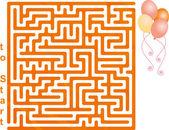 Balloon Maze — Stock Vector