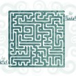 Abstract maze — Stock Vector