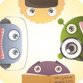 Set of Monsters — Stock Vector
