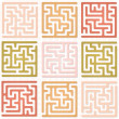 Set of Maze for kids - Stock Vector