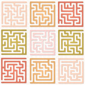 Set of Maze for kids — Stock Vector