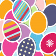 Easter card with colorful eggs, vector illustration — Stock Photo