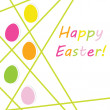 Stock Photo: Easter card with colorful eggs, vector illustration